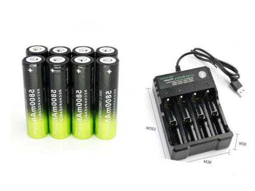 18650 Skywolfeye Battery Li-ion 3.7V For LED Flashlight