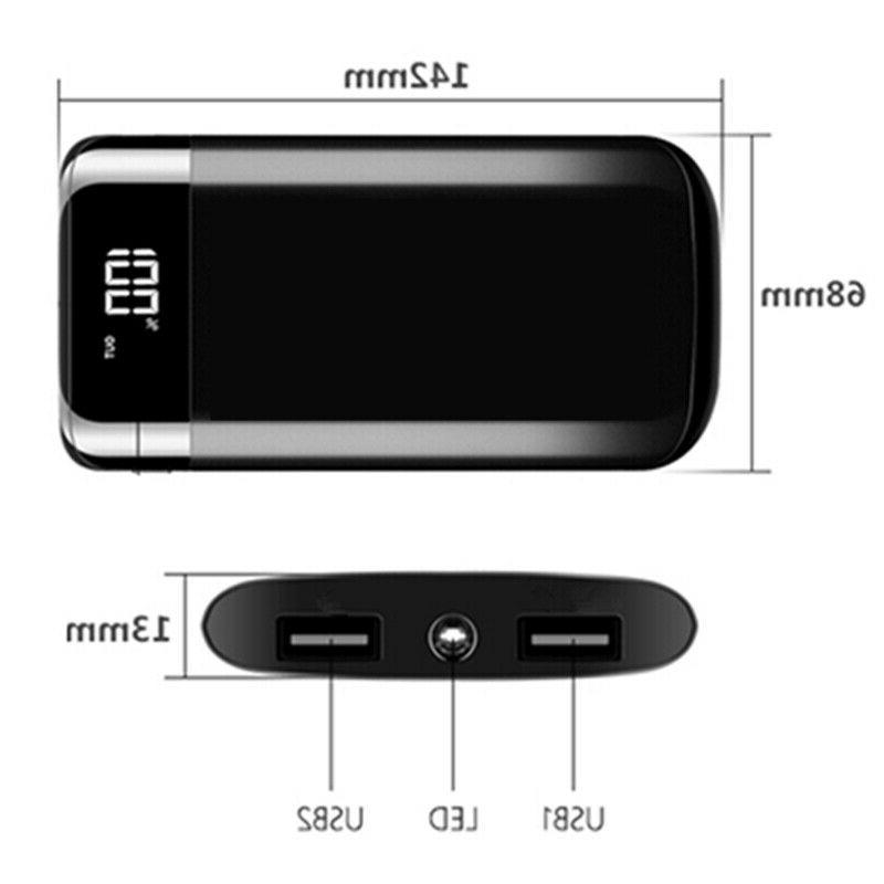 5000000mAh Portable Power Bank LCD USB Battery Charger for Cell