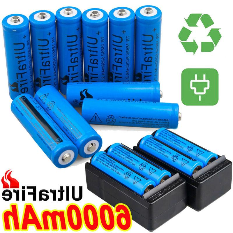 20X Battery 3.7V Li-ion Batteries & Charger