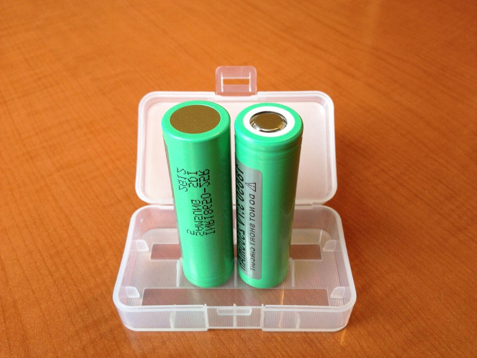2x 2500mAh 20A IMR Rechargeable Battery