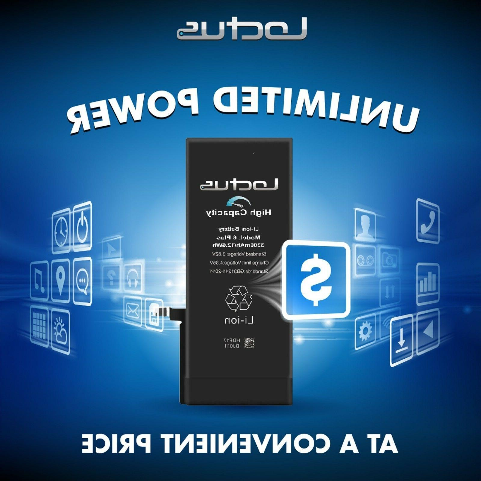 3300 mAh Battery iPhone 6 Plus Replacement Kit Year Warranty