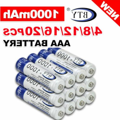 4-20pc BTY Battery Rechargeable Ni-MH