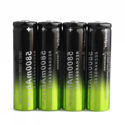 4x Skywolfeye 3.7 18650 Batteries +