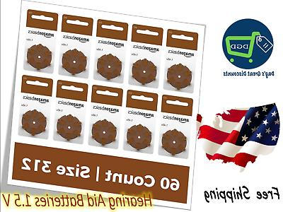 60 pack hearing aid batteries 1 5