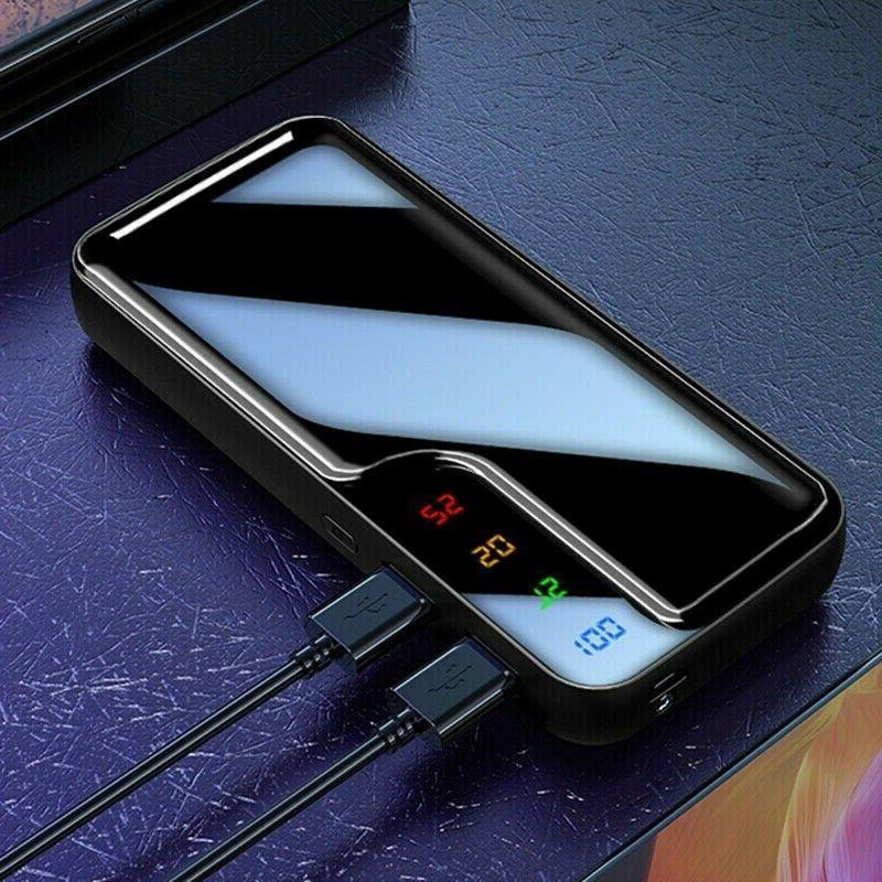 20000000mAh Portable Battery Charger Dual Bank Phone