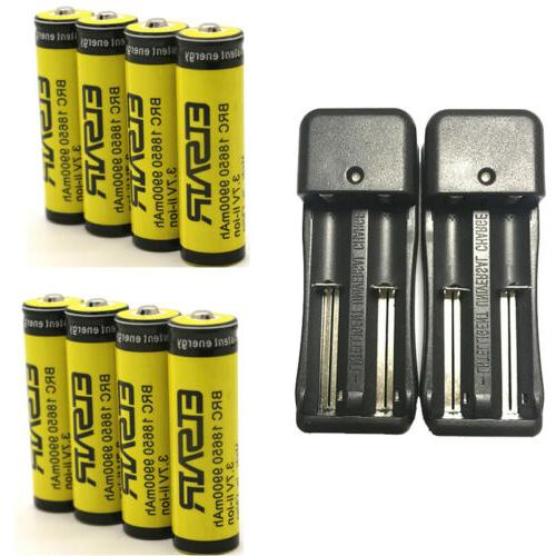 9900mAh 18650 Battery 3.7V Li-ion Battery Intelligent Charger