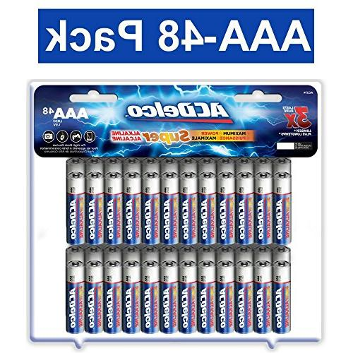 ACDelco AAA Batteries, Triple A Battery Super Alkaline, High