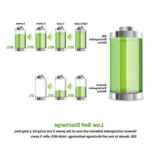 EBL 8 Pack AA Batteries High AA Battery Included