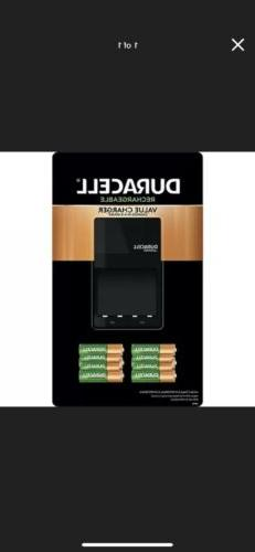 Duracell Battery Charger with Rechargeable AA  and AAA