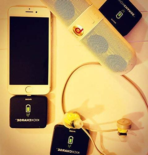 KICKCHARGE with - Emergency, Single-Use Mobile Battery Pack for On The Go Great for Everyday Travel, Events Camping