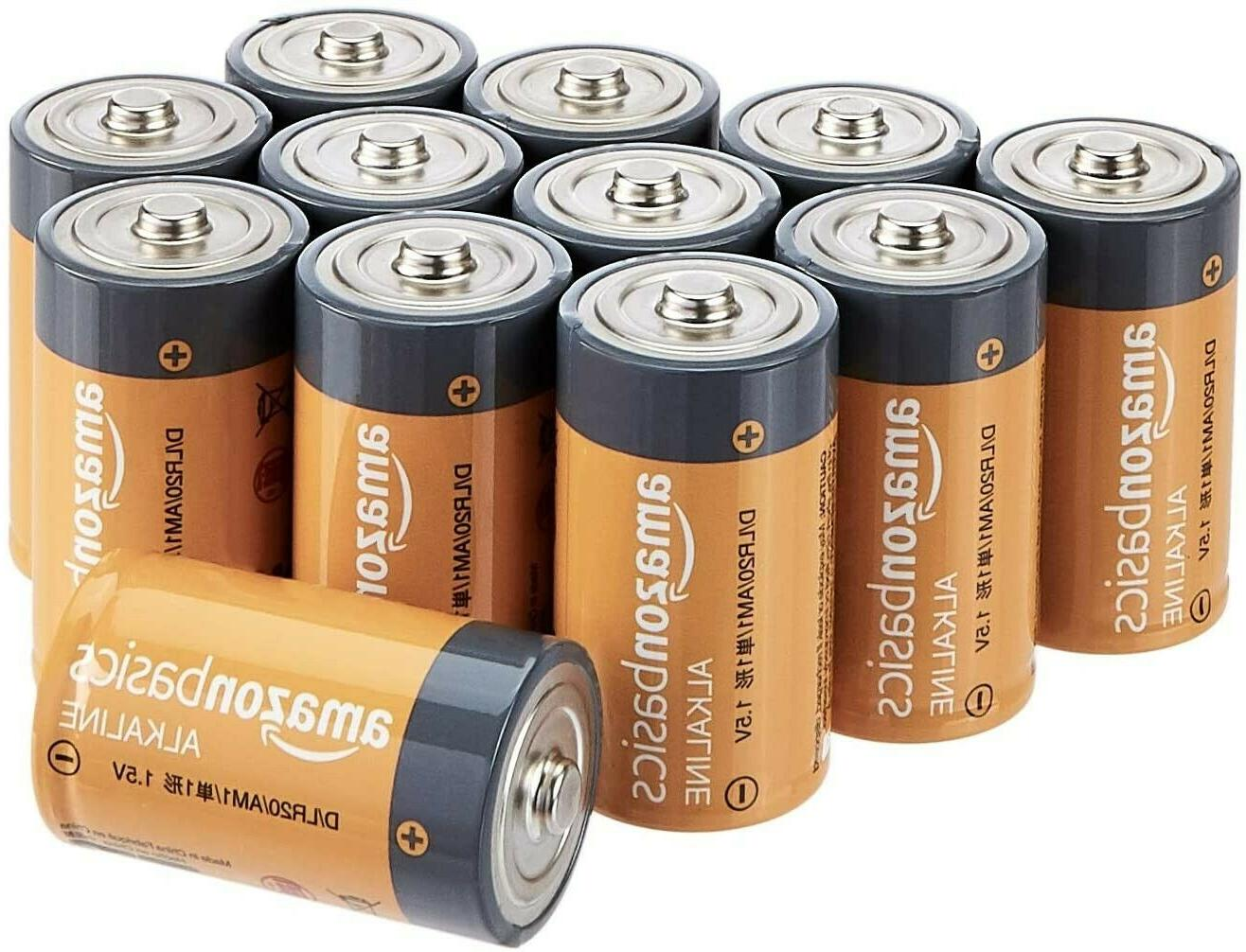 d cell everyday alkaline batteries 12 pack