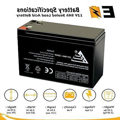 expertbattery 12v 9ah battery for monster rockin
