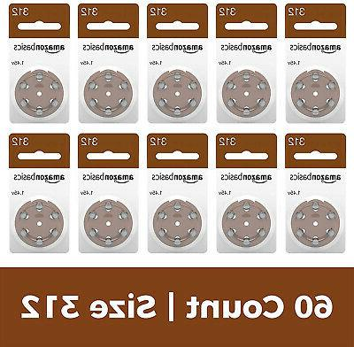 hearing aid batteries size 312 60 pack