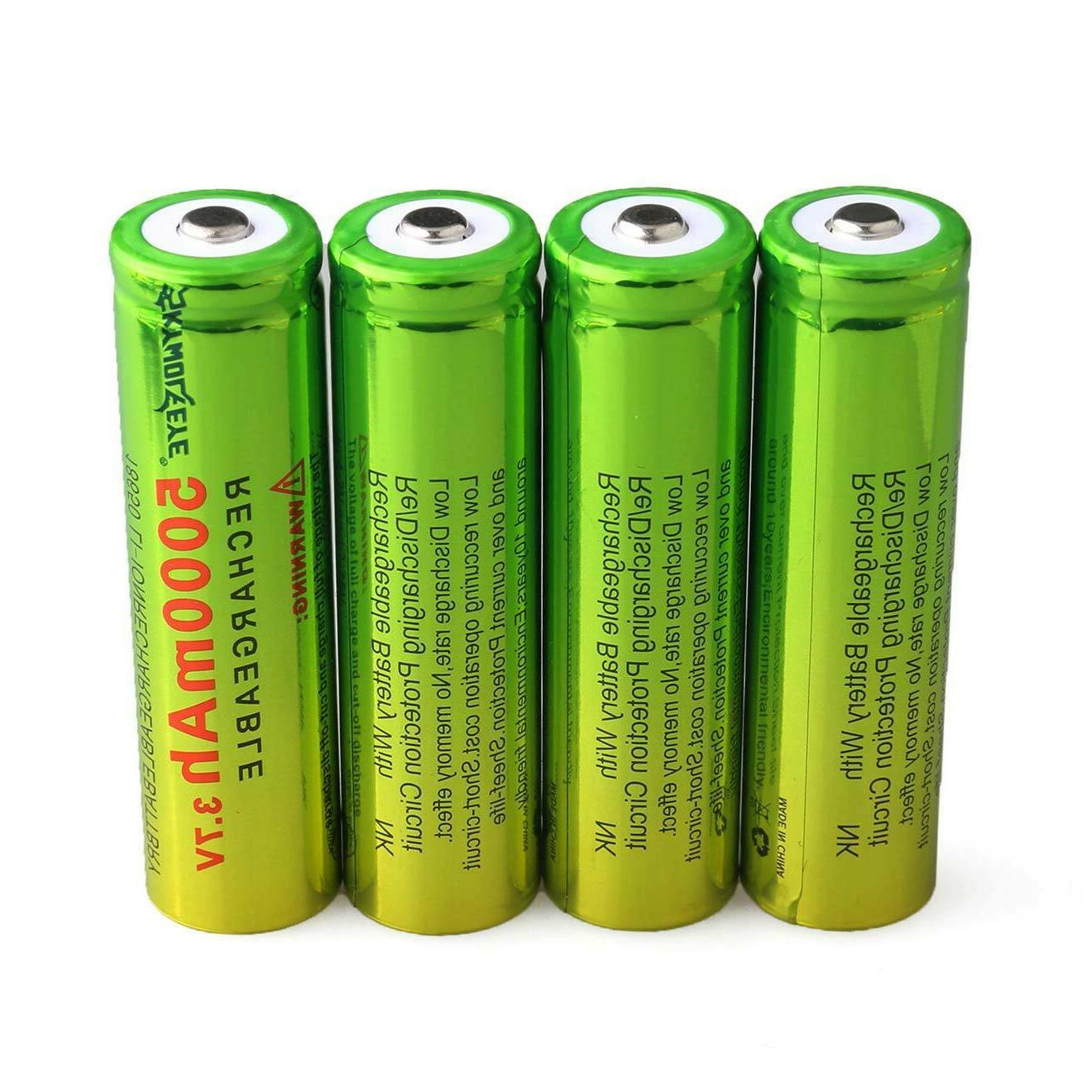 Lot 3.7V 18650 Battery 5000mAh Li-ion Rechargeable Batteries USA