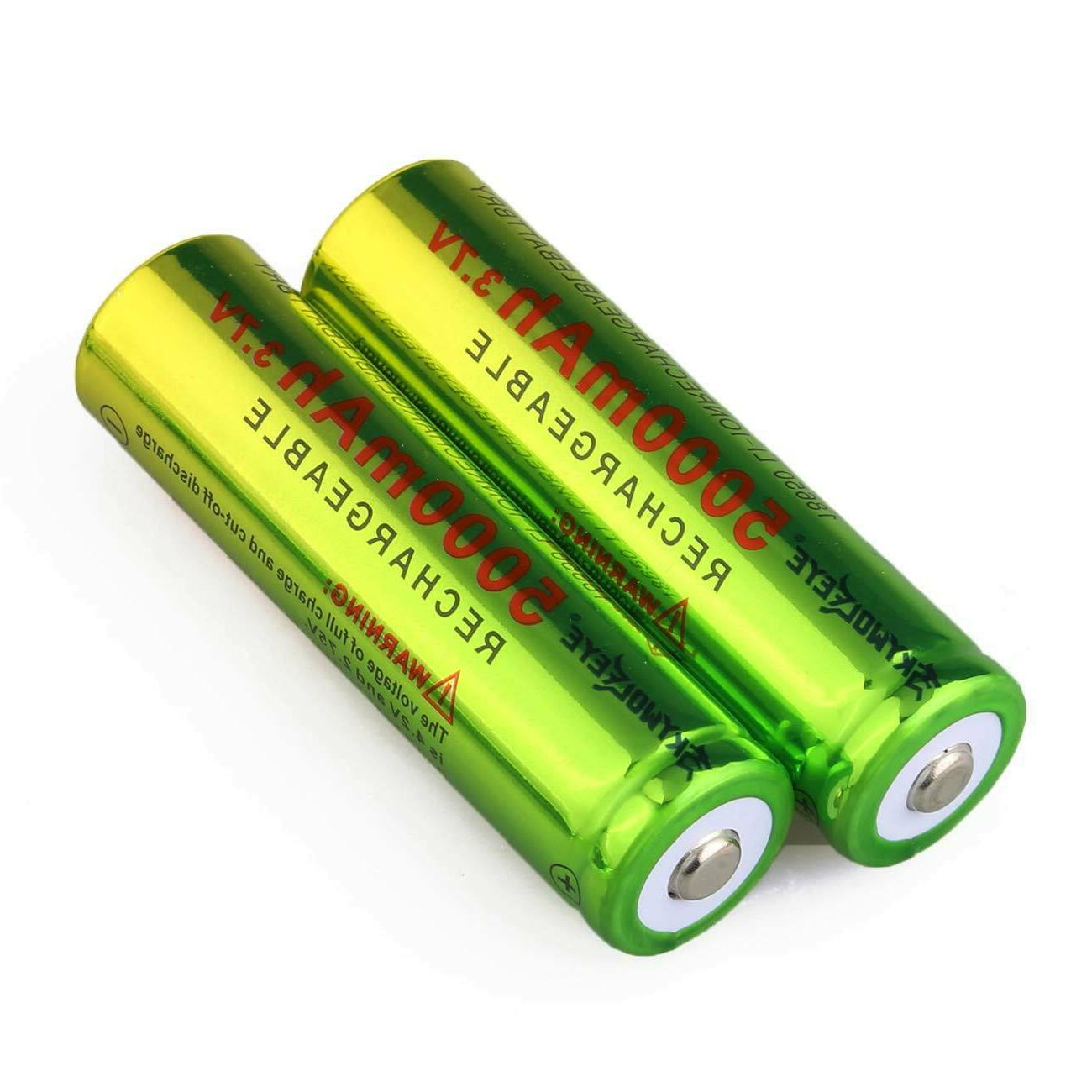 Lot 18650 Battery 5000mAh Li-ion Rechargeable Batteries USA