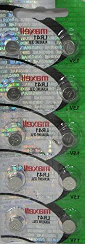Maxell Watch Battery Button Cell LR41 AG3 192 Pack of 10 Bat