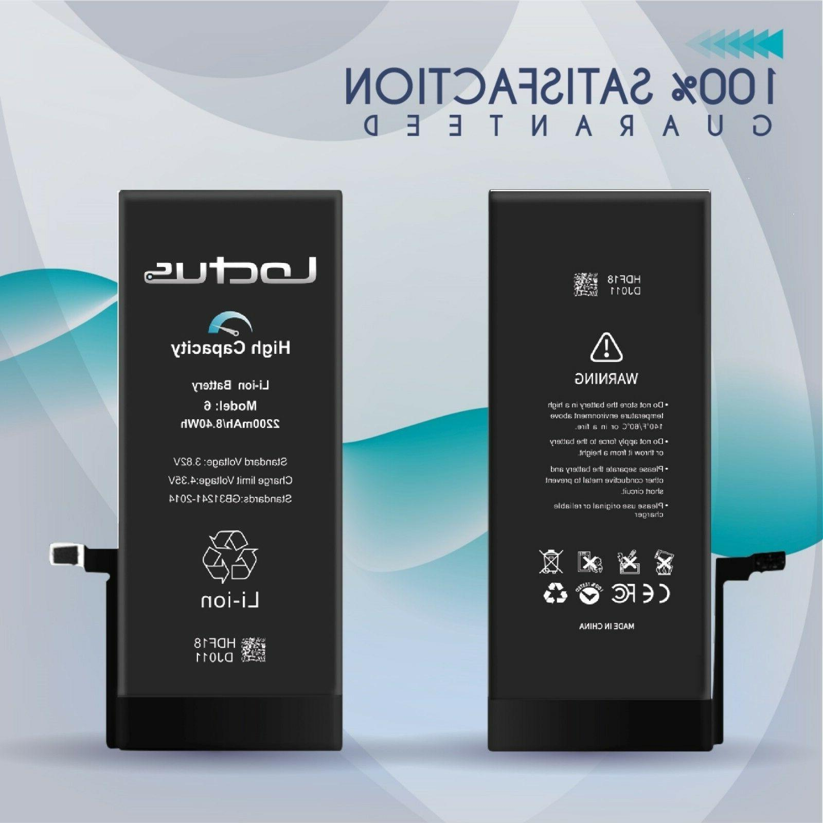 2200mAh HighCapacity Battery iPhone &Adhesive 2 Year