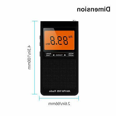 Emergency NOAA FM Weather Portable Auto-Search Battery