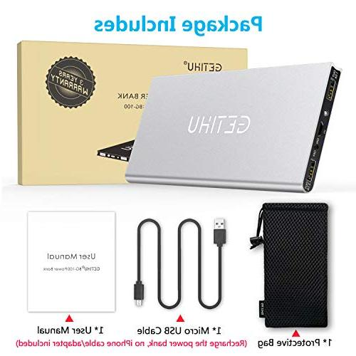 GETIHU Phone Charger Portable Slim External Battery Thin 2 Powerbank for X 7 Plus Android Cell Phone