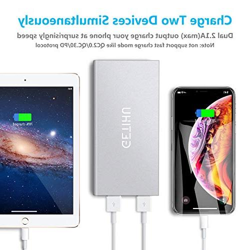GETIHU Portable Ultra Slim 2 USB for iPhone 7 6 Android Cell