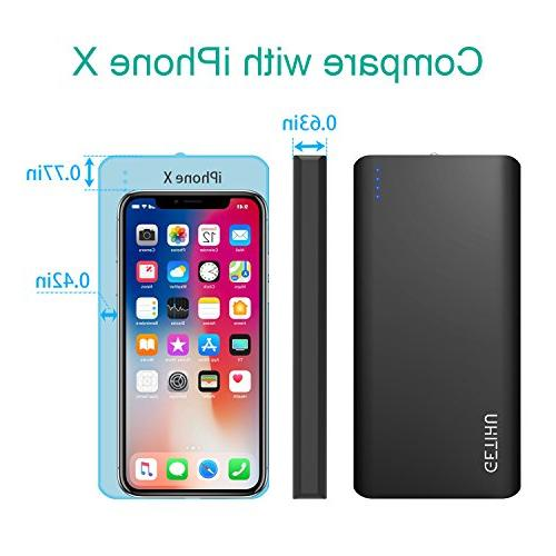 GETIHU Power Bank 2 USB Ports 4.8A High-Speed Charging External Battery with Flashlight for Xs 8 7 6s 6 iPad Tablet Phone Pack