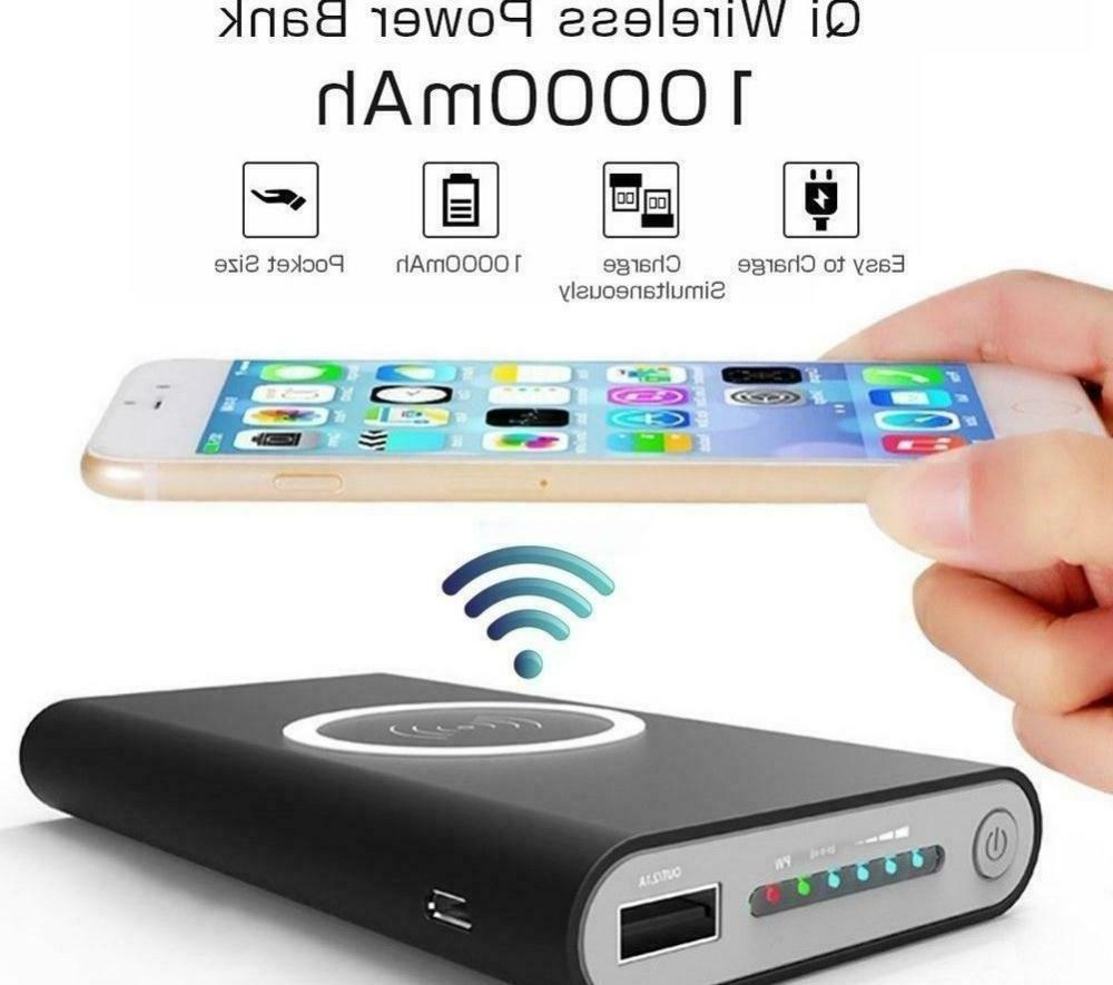 portable power bank qi wireless charging battery