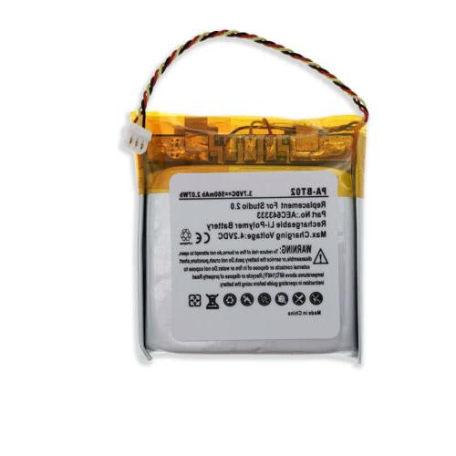 2 Wired / Wireless Replacement Li-Polymer Battery for Beats