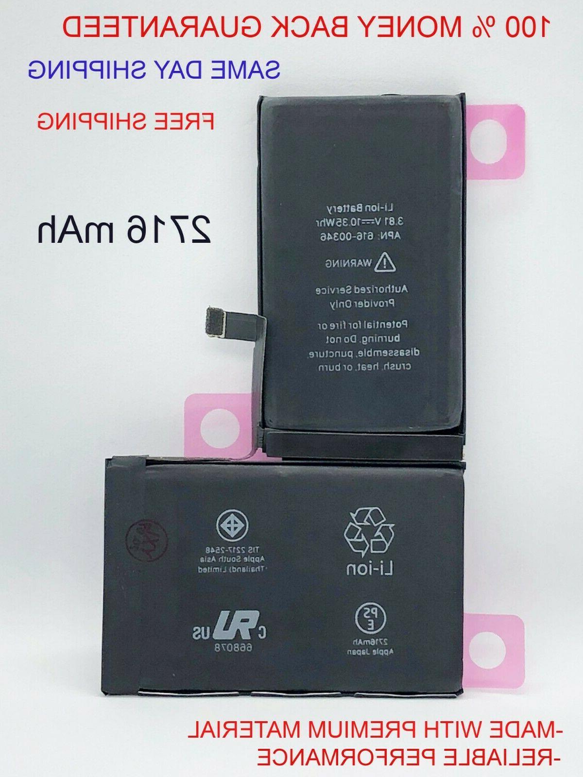 replacement battery for iphone x li ion