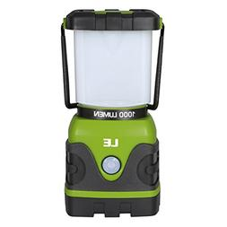 LE Portable LED Camping Lantern, 1000lm, Dimmable, 4 Lightin