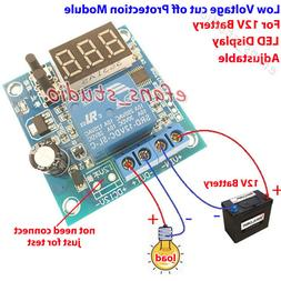 Led Display 12V Battery Low Voltage cut off On Switch Excess