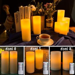 LED Flameless Votive Candles Real Wax Battery Operated Remot