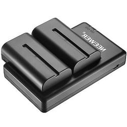 Neewer NP-F550 Battery Charger Set for Sony NP F970,F750,F96