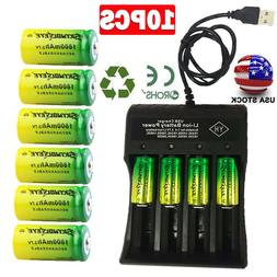 Lot 16340 CR123A Battery 3.7V Rechargeable Lithium Batteries