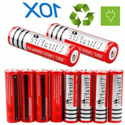 Lot 18650 3000mAh 3.7V Li-ion BRC Rechargeable Battery For F