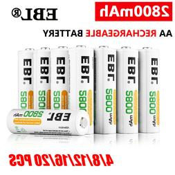 Lot 2800mAh AA Rechargeable Batteries 1.2V NI-MH Battery For