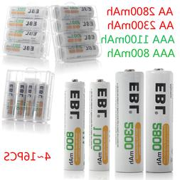 EBL Lot of AA AAA NI-MH Rechargeable Batteries 2800mAh 2300m