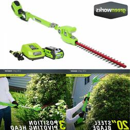 max cordless pole hedge trimmer