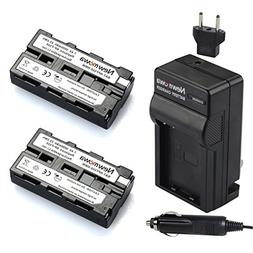 Newmowa NP-F550 Replacement Battery  and Charger kit for Son