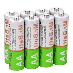 Mr.Batt AA Rechargeable Batteries, NiMH, Pre-Charged, 1600mA
