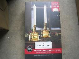 New ! 2PK Matchless Candle Co. Battery Operated Moving Flame