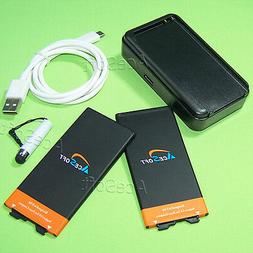 New 2x 4670mAh Battery Wall Charger Type-C USB-C Cable Pen f