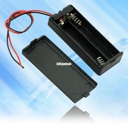 New Black 2 AAA 3A Battery Holder Box Case With Switch 6.2 x