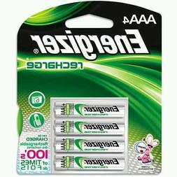 Energizer NH12BP-4 Rechargeable AAA NiMH Batteries - 4 Pack