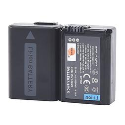 DSTE 2pcs NP-FW50 Rechargeable Li-ion Battery for Sony Alpha