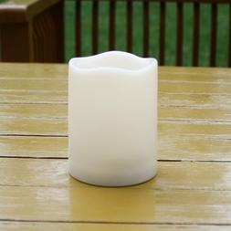 Outdoor Waterproof Flameless Battery Operated LED Pillar Can