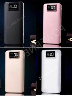 Portable 900000mAh LCD Power Bank External 2 USB Battery Cha