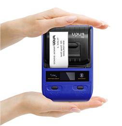 Portable Bluetooth Thermal Label Printer with Rechargeable B