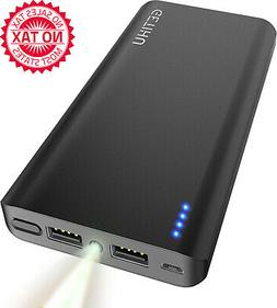 Portable Charger, 13000 MAh Power Bank, 4.8A High-Speed 2 US