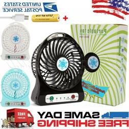 Portable Rechargeable LED Fan Desk air Cooler Mini Operated