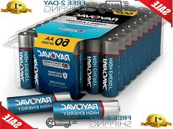 Rayovac AA Batteries, Alkaline Double A Batteries  60 Count